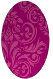rug #245305 | oval pink rug