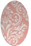 rug #245317   oval pink damask rug