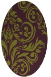 rug #245325 | oval green damask rug