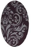 rug #245333   oval purple damask rug