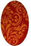 rug #245341 | oval red rug