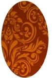 rug #245353 | oval red-orange damask rug