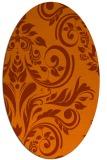 rug #245354 | oval damask rug