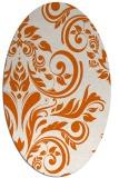 rug #245365 | oval red-orange damask rug