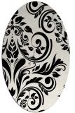 rug #245369 | oval white damask rug