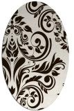 rug #245393 | oval brown damask rug