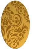 rug #245401 | oval light-orange damask rug