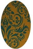 rug #245404 | oval damask rug