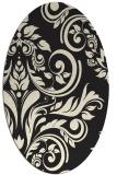 rug #245405   oval black damask rug