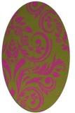 rug #245425   oval pink damask rug