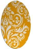 rug #245433 | oval light-orange damask rug