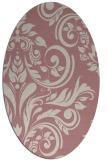 rug #245437   oval pink damask rug