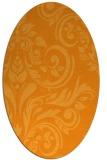 rug #245441   oval light-orange damask rug