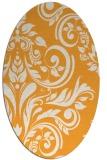 rug #245445   oval light-orange damask rug