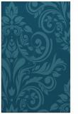 rug #245497    blue-green damask rug