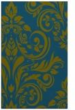 rug #245509    green damask rug