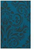 rug #245529 |  blue damask rug