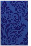 rug #245553 |  blue-violet damask rug
