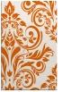 rug #245717 |  red-orange damask rug