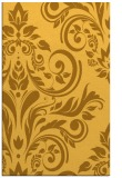 rug #245753 |  yellow damask rug