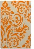 rug #245765 |  orange damask rug
