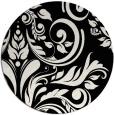 rug #245805 | round black damask rug