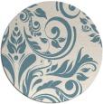 rug #245825   round white damask rug