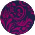 rug #245829 | round pink damask rug