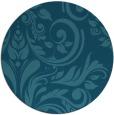 rug #245849 | round blue-green damask rug