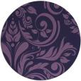 rug #245897   round purple damask rug