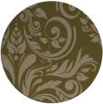 rug #245921 | round mid-brown damask rug
