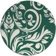 rug #245933 | round green damask rug