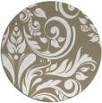 rug #245941   round mid-brown damask rug