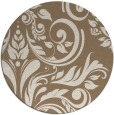 rug #245953 | round mid-brown damask rug