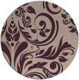 rug #245957   round pink damask rug