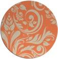 rug #245997 | round orange damask rug
