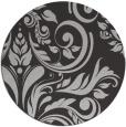 rug #246001 | round orange damask rug