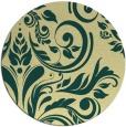 rug #246005 | round yellow damask rug