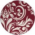 rug #246013 | round pink damask rug