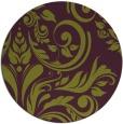 rug #246029   round purple damask rug