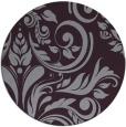 rug #246037   round purple damask rug