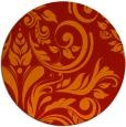 rug #246045 | round orange damask rug