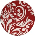 rug #246049 | round red rug
