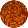rug #246057 | round red-orange rug