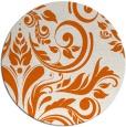 rug #246069 | round red-orange damask rug