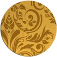 rug #246105 | round light-orange damask rug