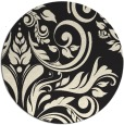 rug #246109 | round black damask rug
