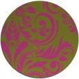 rug #246129 | round light-green damask rug