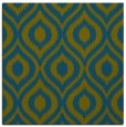 rug #250085 | square blue-green animal rug