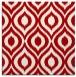 rug #250265 | square red animal rug
